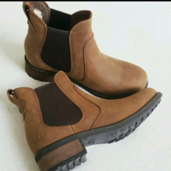 1f852cbcafa NEW Ugg Bonham Leather Ankle Boot Size 6 NWT